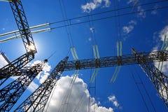 Production et distribution d'énergie électrique Images stock