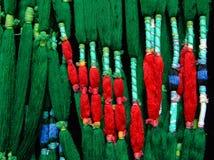 Production et tissage des tapis et des tissus image libre de droits