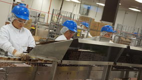 Production in Ethel M Chocolates. The process of making chocolate in Ethel M chocolate factory Stock Photo