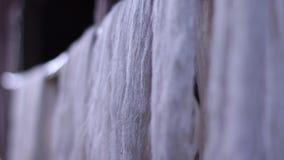 Production of fabrics. stock footage