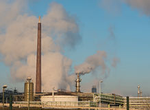 Production facilities of an industrial area in the west of Frankfurt am Main Royalty Free Stock Photo