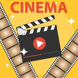 Production of the film, icon of the cinema. Flat design,  illustration Stock Photo