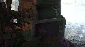 Production of foam concrete blocks stock footage