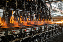 For the production of glass bottles factory Stock Images