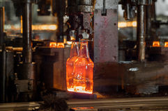 For the production of glass bottles factory Royalty Free Stock Photography