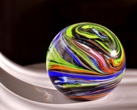 Production of glass decoration. Handmade glass. Class paperweight Stock Photo