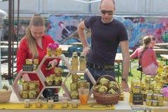 Production of honey Royalty Free Stock Image