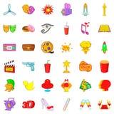 Production icons set, cartoon style. Production icons set. Cartoon set of 36 production vector icons for web isolated on white background Royalty Free Stock Photography