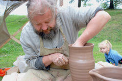 Production of jug. Stock Photography