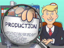 Production through Lens. Doodle Style. Royalty Free Stock Photos