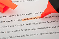 Production level highlighted royalty free stock images