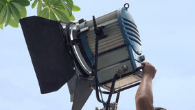 Production light equipment for video or movie shooting Royalty Free Stock Photo
