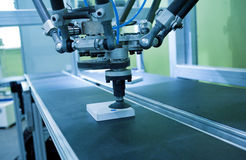 Production line automation robot Royalty Free Stock Images