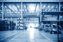 Automobile factory production workshop Royalty Free Stock Photos