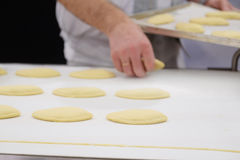 Production line at bakery Royalty Free Stock Images