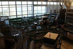 Production line in brewery Budvar in České Budějovice, South Bohemia. Czech republic royalty free stock photography