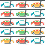 Production line of cars Stock Image