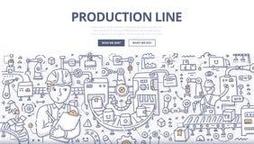 Production Line Doodle Concept Stock Images