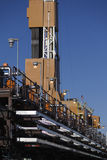 Production line and drilling rig derrick Stock Photos