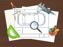 Production Line Element Poster Royalty Free Stock Images