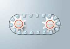 Production Line 2 Gears Infographic Stock Photography