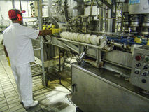 Production line of juices. Mogi das Cruzes, SP, Brazil, November 10, 2006. Production line of juices on food factory, in Mogi das Cruzes, SP royalty free stock images