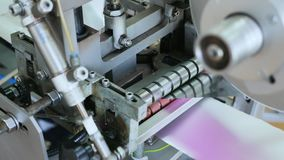 Production Line. Machine for manufacturing stock video footage