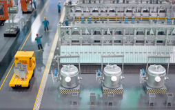 Production line model of the thermal power plant Royalty Free Stock Photos
