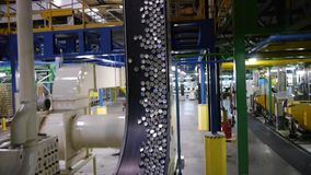 Production line in modern factory stock video footage