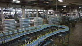 Production line in modern factory stock video