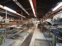 Production line of tile factory Royalty Free Stock Photography
