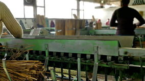 Production machinery in the factory hall stock footage