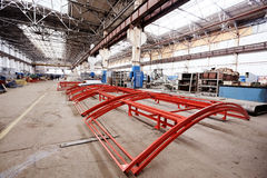 Production of metal structures Royalty Free Stock Photo