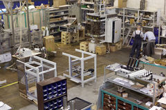 Production of packaging equipment for food processing Stock Photo