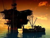 Production of petroleum Royalty Free Stock Photo