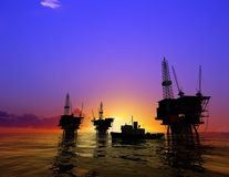 Production of petroleum Stock Photos