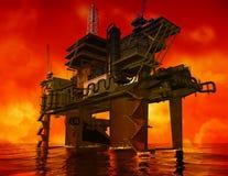 Production of petroleum stock illustration