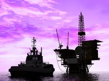 Production of petroleum Royalty Free Stock Photography