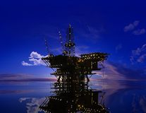 Production of petroleum Royalty Free Stock Image