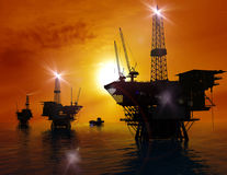 Production of petroleum Stock Images