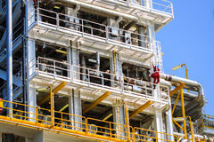 Production plant in offshore oil and gas processing Stock Photo