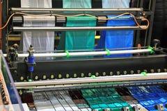 Production plastic bag stock photos