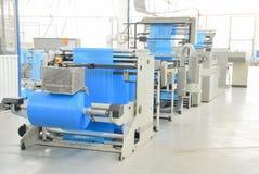 Production polyethylene garbage bags Stock Photo