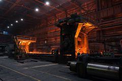 The production process in the rolling mill Stock Photos