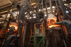 Production process in the steel mill.  Stock Photo