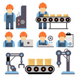 Production Process Vector Illustration Stock Images