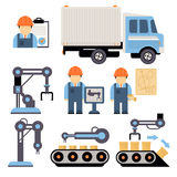 Production Process Vector Illustration Royalty Free Stock Photos