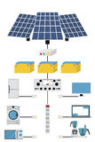 Production and processing solar electric power. Stock Photography