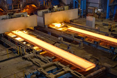 Production of rolled steel Stock Photos