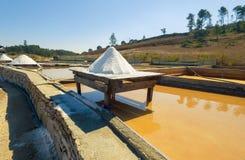 Production of Salt by Evaporation Saline Stock Photos